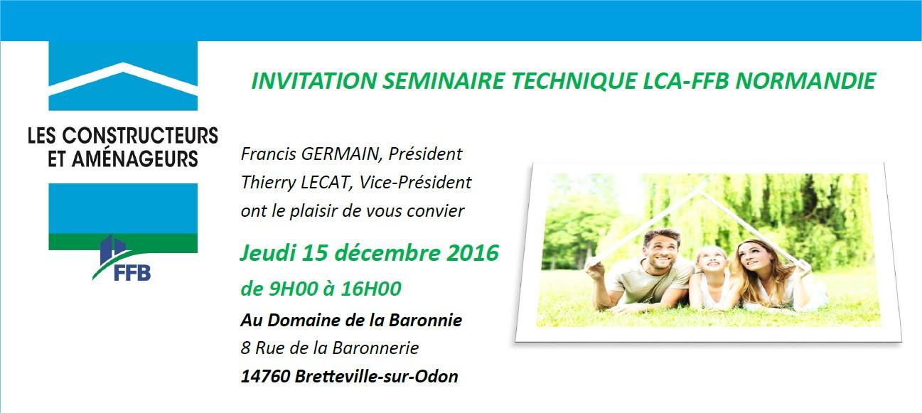 Conférence de l'association Promotelec au Séminaire technique LCA-FFB Normandie