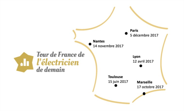 1ere édition du Tour de France de L'électricien de demain (Lyon – 12 avril 2017)