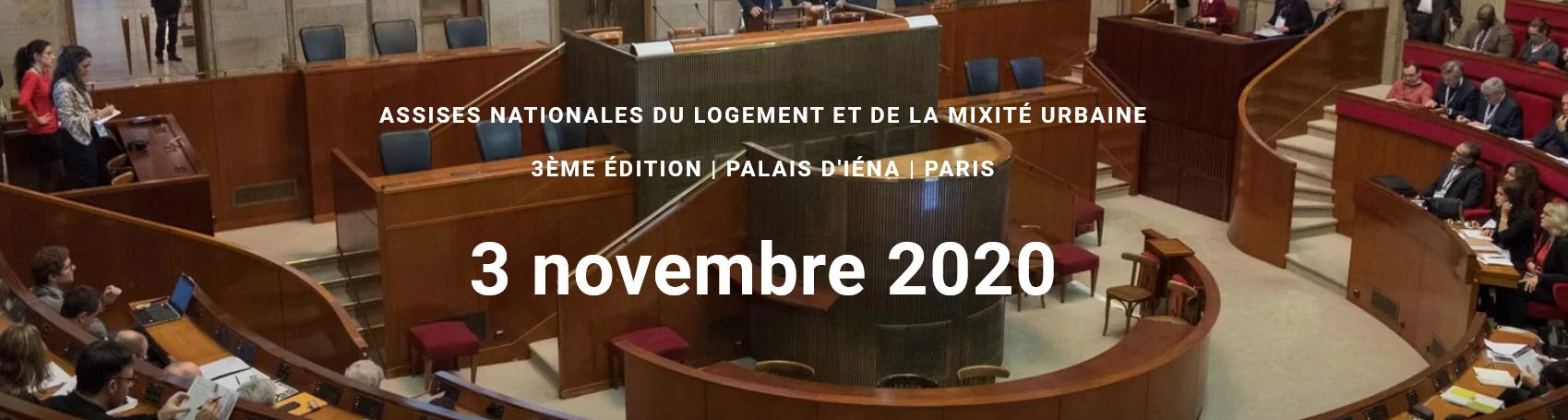 Assises Nationales du Logement et de la Mixité Urbaine – Paris le 3 Novembre 2020