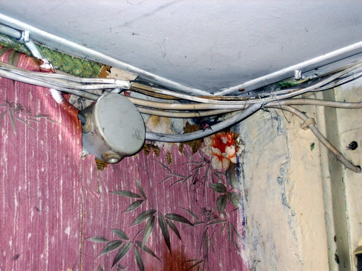 Installation électrique défectueuse